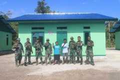Satgas TMMD Kodim Yawa bangun 8 rumah warga di Kampung Miosnum Yapen